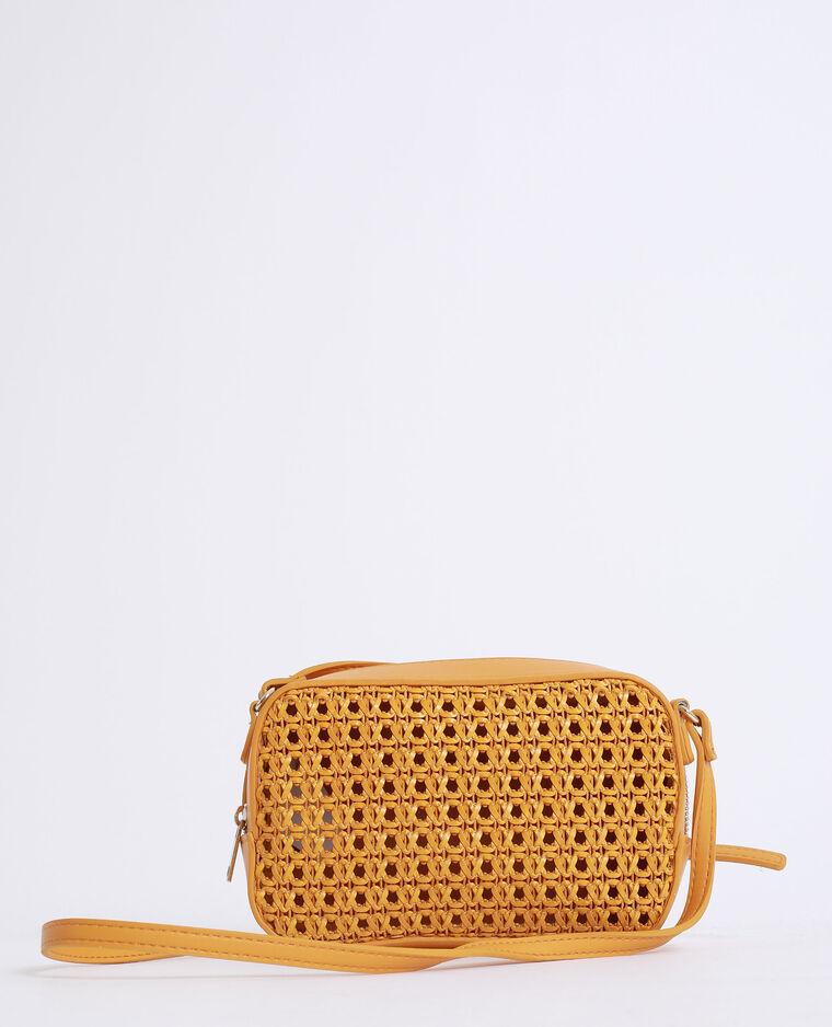 Piccola borsa intrecciata giallo