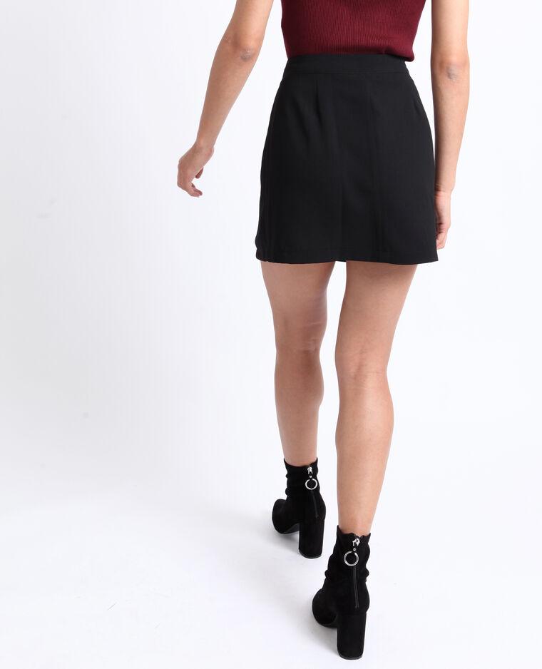Minigonna abbottonata nero