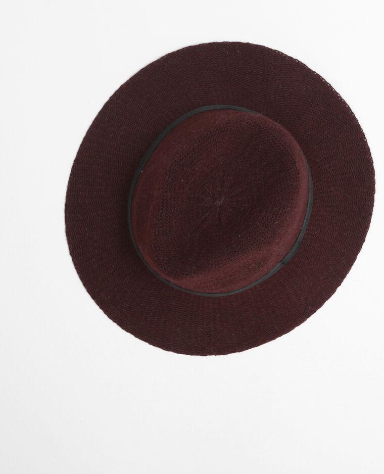 Cappello fedora tricoté granata  Cappello fedora tricoté granata 594642eb1b90