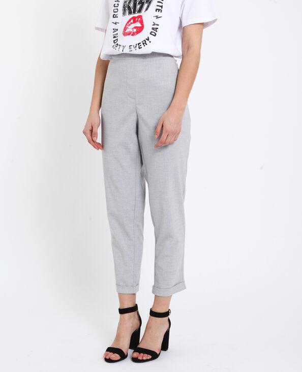 Pantalone city grigio chiné