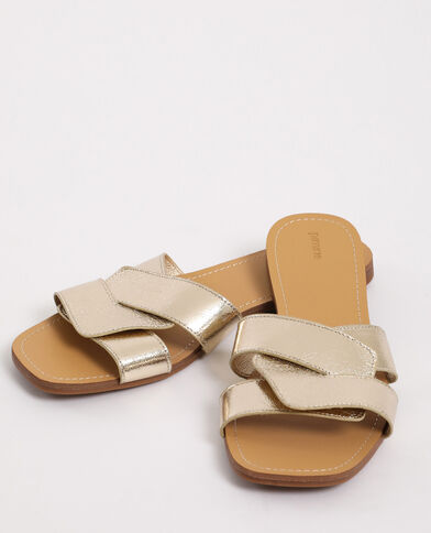 Sandali bassi dorato