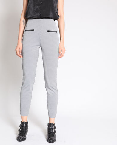 Treggings stampato grigio chiné