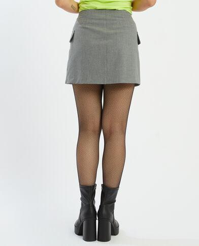Minigonna a portafoglio grigio paillettato - Pimkie