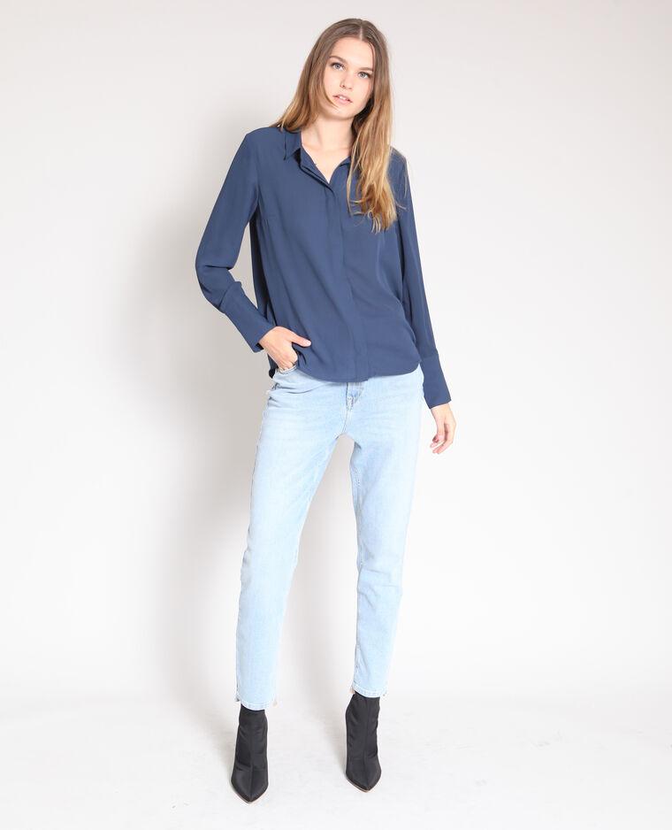 Camicia morbida blu marino