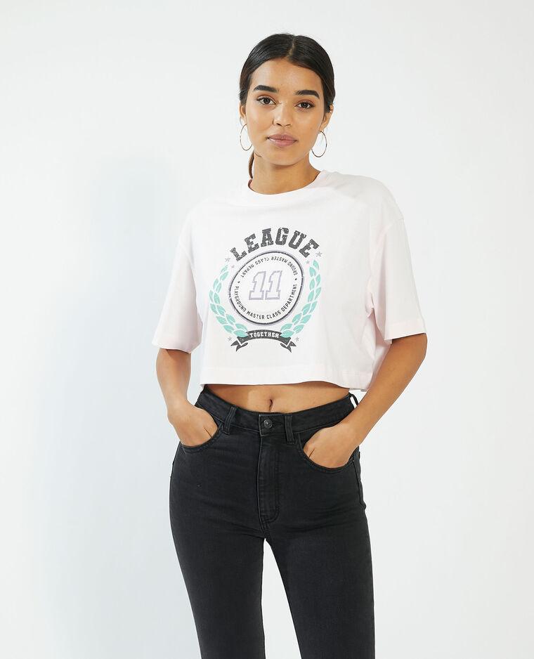 T-shirt cropped rosa - Pimkie