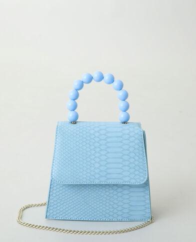 Borsa a mano con perle blu