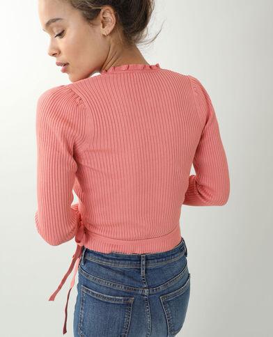 Top cache-coeur rosa