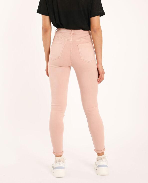 Pantalone skinny high waist rosa