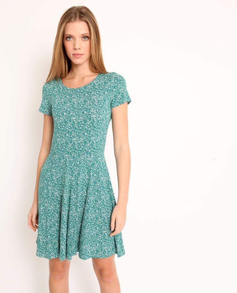 Vestito a fiori verde