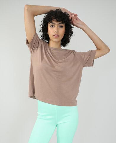 T-shirt con spalline beige - Pimkie