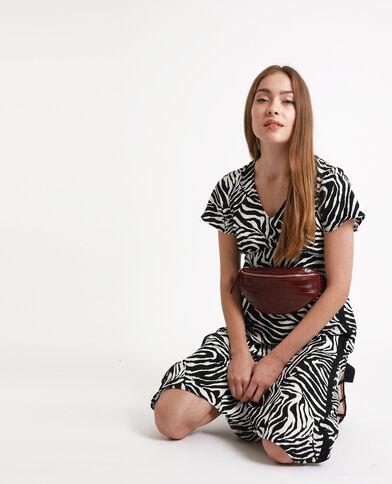 Abito lungo zebrato nero