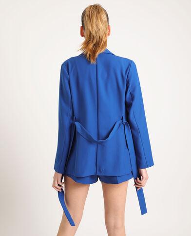 Blazer con cintura blu