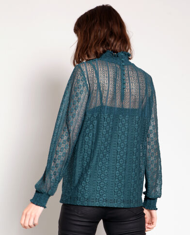 Blusa in pizzo verde