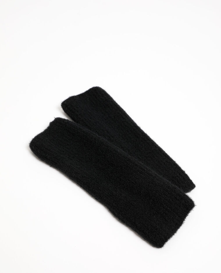 Mezzi guanti lunghi nero