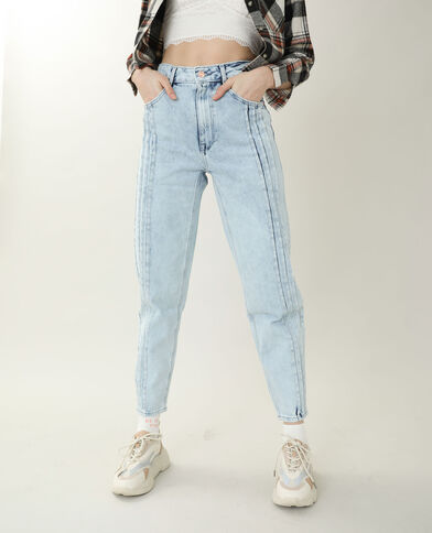 Jeans mom high waist blu chiaro
