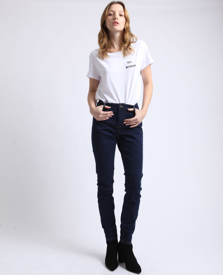 Jeggings mid waist blu