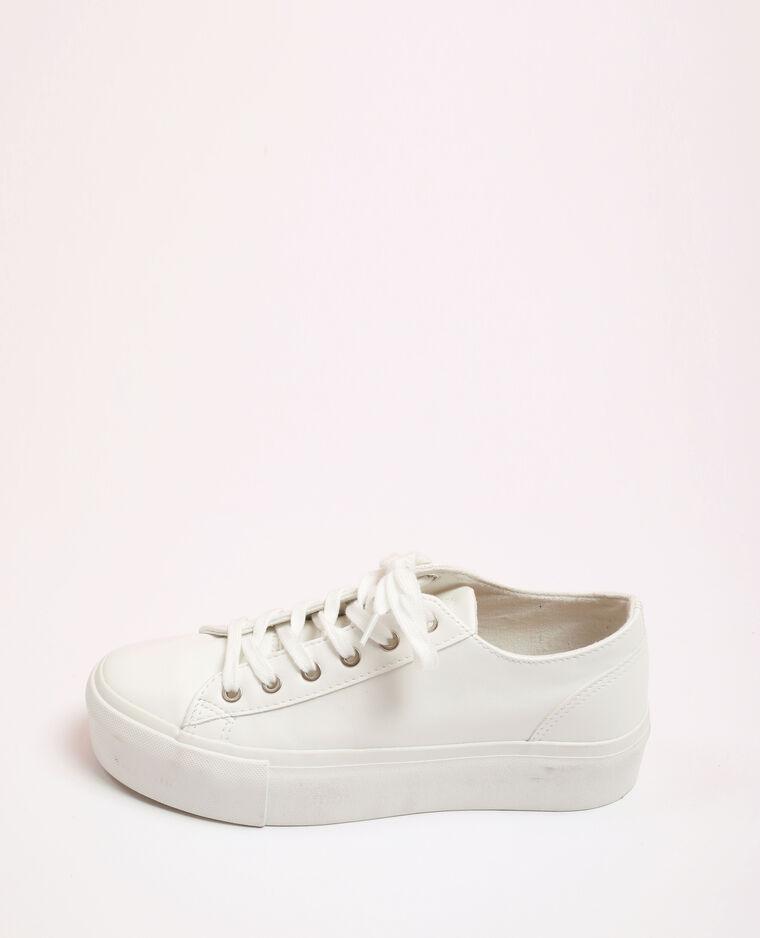 Scarpe sportive in finta pelle bianco