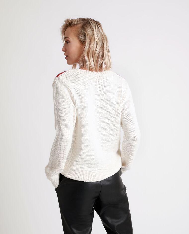 Pull jacquard bianco