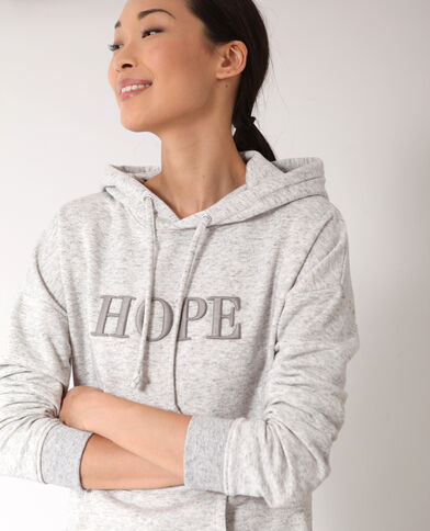 Felpa HOPE grigio chiné