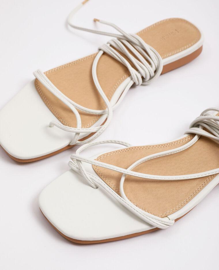 Sandali con lacci bianco - Pimkie