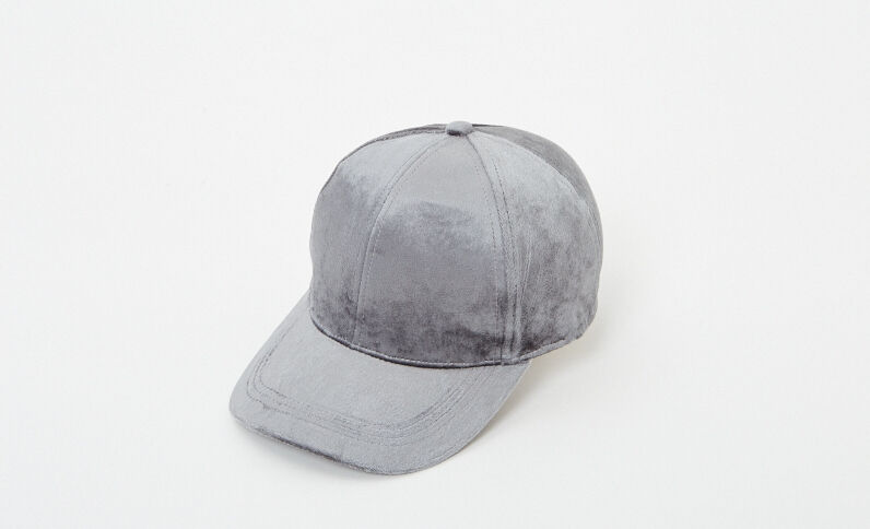 Cappellino velluto grigio antracite