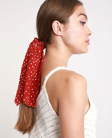 Lotto da 2 elastici per capelli a pois rosso