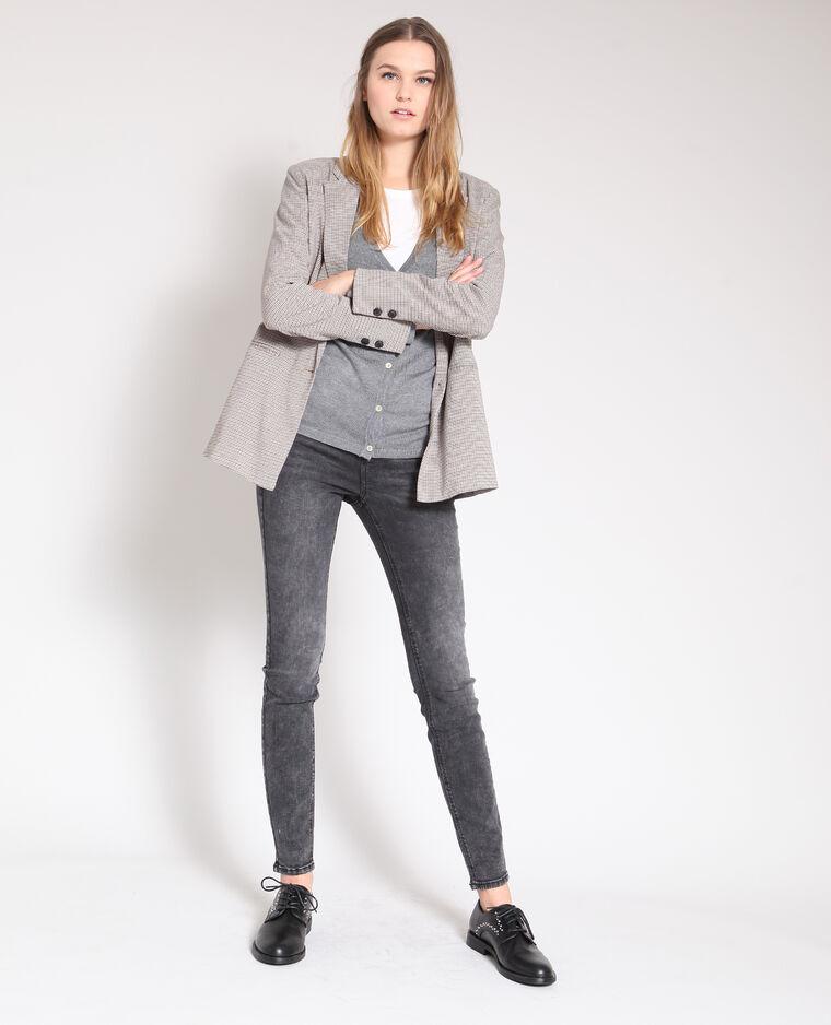Jeans push up grigio