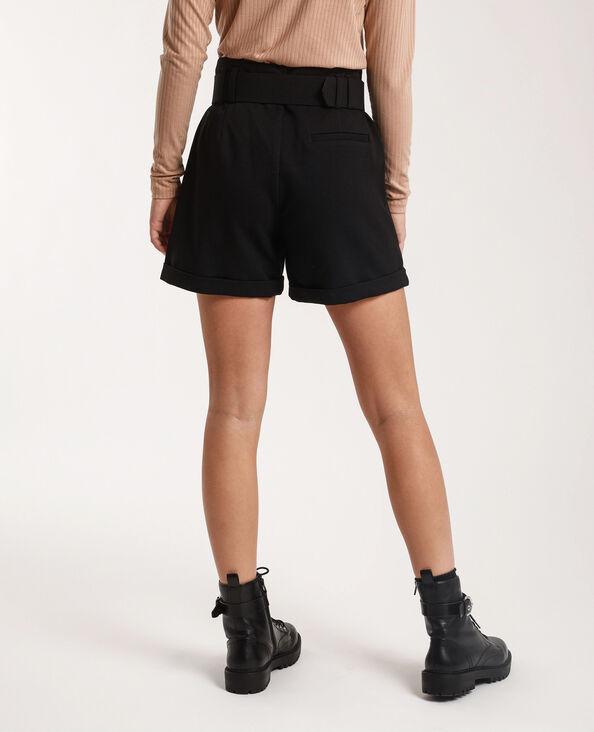 Short con cintura nero
