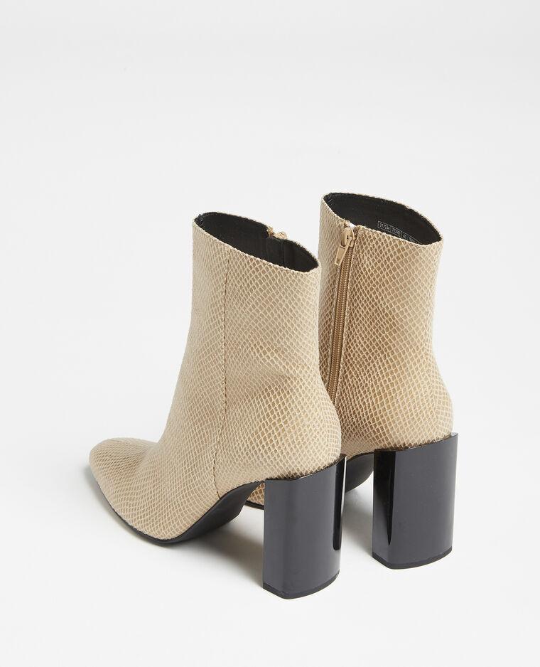 Stivali con tacco beige - Pimkie