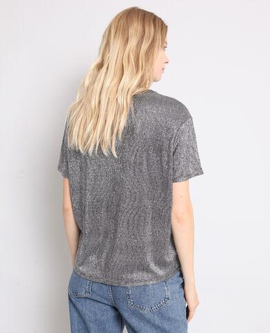 T-shirt con texture grigio