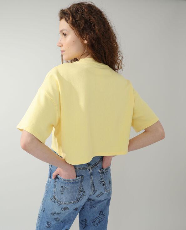 Felpa cropped giallo - Pimkie
