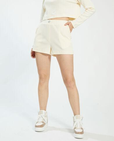 Short goffrato bianco - Pimkie