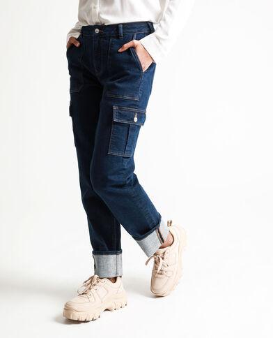 Jeans di ispirazione carpentiere blu scuro