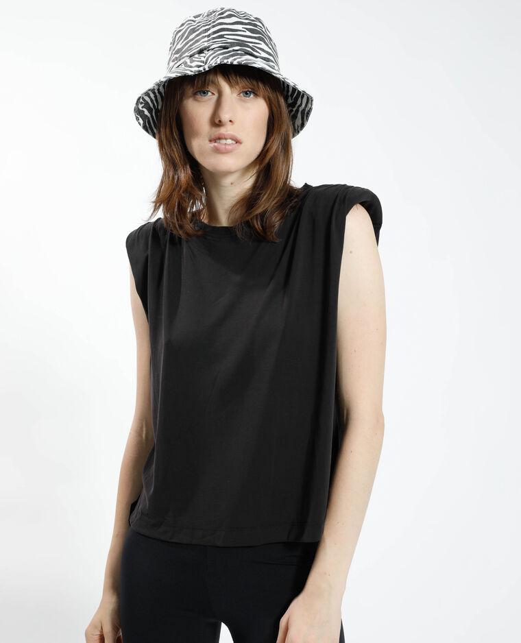 T-shirt con spalline nero - Pimkie