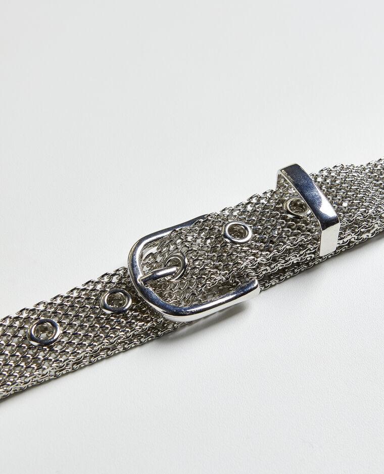 Cintura metallica grigio
