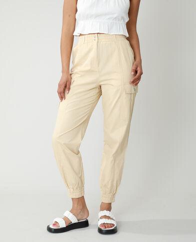 Pantalone cargo beige - Pimkie
