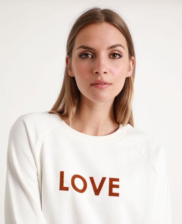 Felpa LOVE bianco