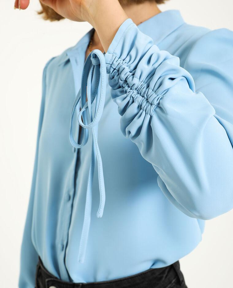 Camicia con maniche risvoltabili blu cielo - Pimkie