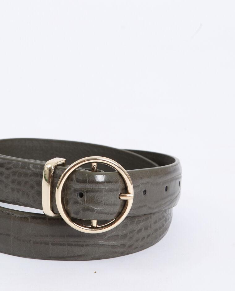 Cintura coccodrillo kaki
