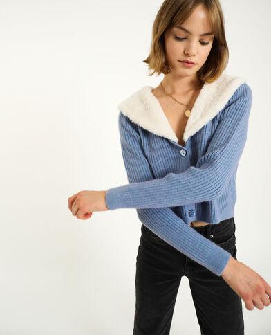 Cardigan corto blu marino - Pimkie