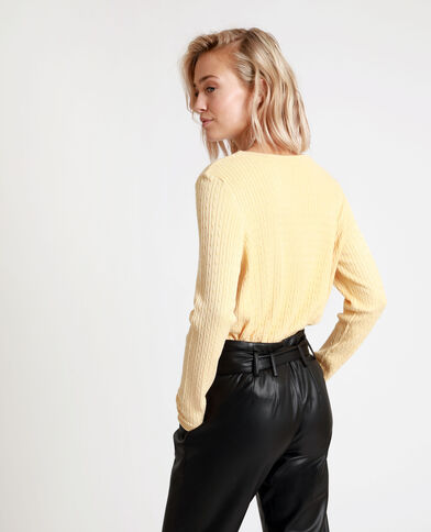 Pull sottile giallo