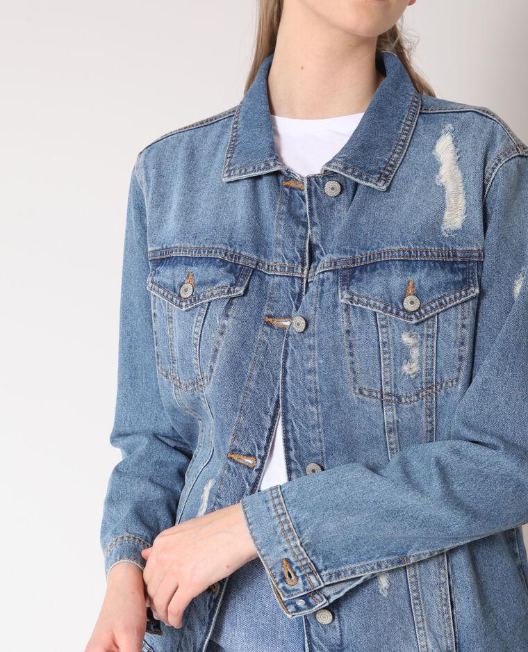 Giacca in jeans oversize blu denim