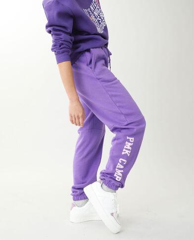 Pantalone da jogging in tessuto felpato viola