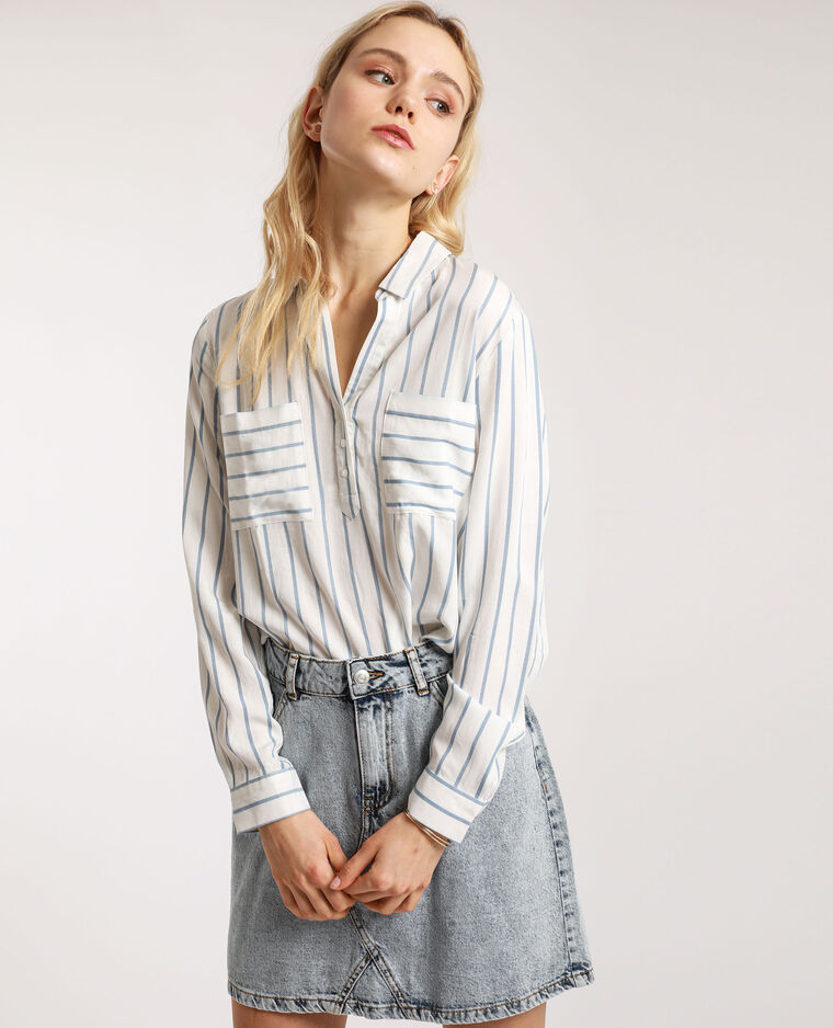 Camicia a righe bianco sporco - Pimkie