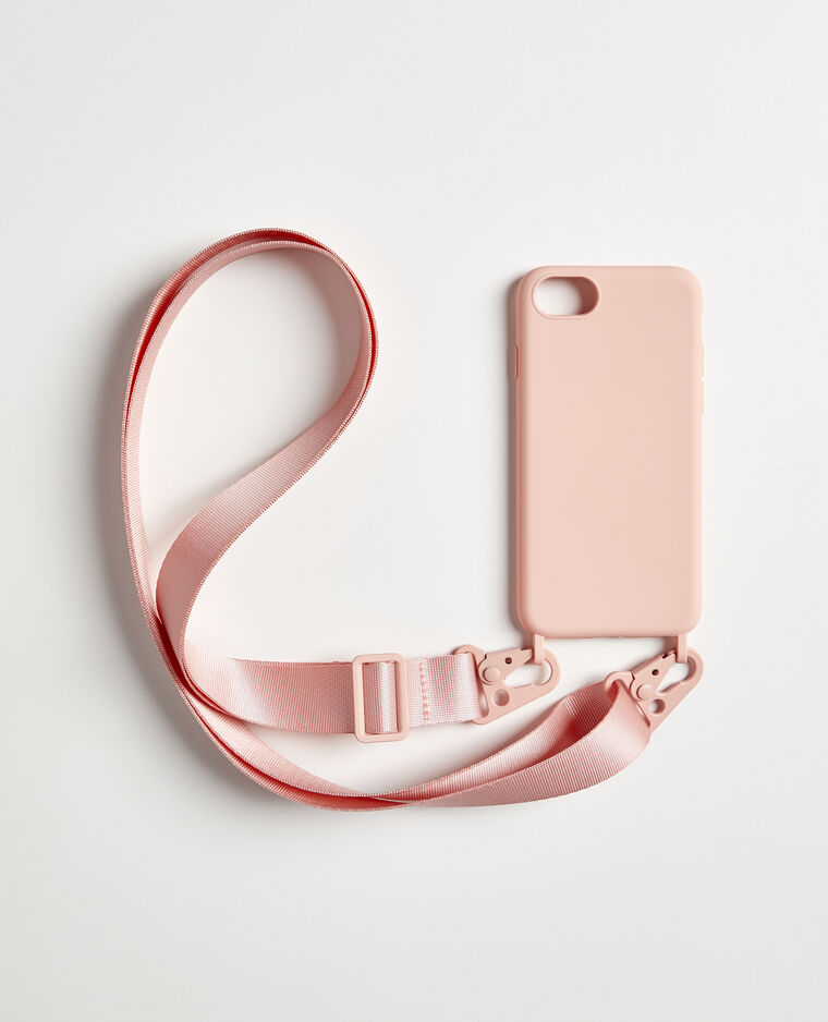 Custodia iPhone con tracolla rosa - Pimkie