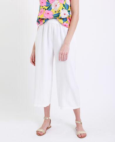 Pantalone con gambe larghe bianco