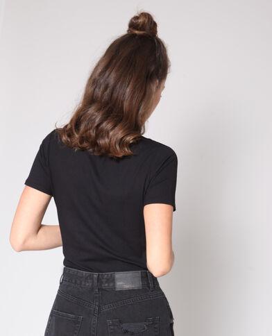 T-shirt con texture nero