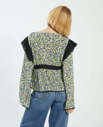 Camicia con ricamo inglese verde - Pimkie