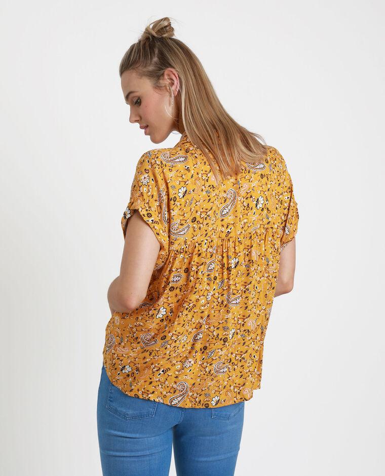 Camicia con stampa cachemire. giallo