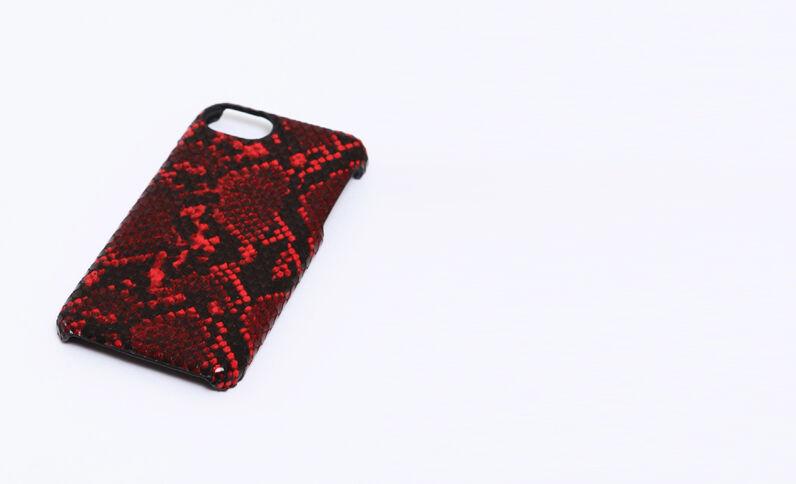 Cover pitone compatibile con iPhone rosa